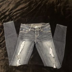 Distressed Blue Asphalt Jeans